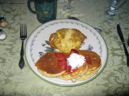 Quiche Lorraine and Lemon Pancakes
