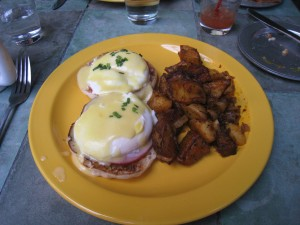 Eggs Benedict at The Park