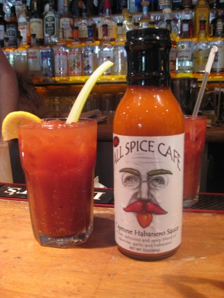 Bloody Mary with All Spice Cafe Cayenne Habanero XXX