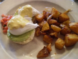 Santa Fe Style Eggs Benedict at Masa