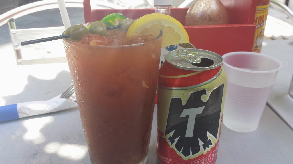 Bloody Maria + Tecate